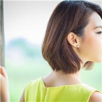短发美女侧面唯美图片:短发美女头像图片高清唯美