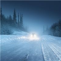 黑夜照片唯美图片:冬季黑夜带字意境图片