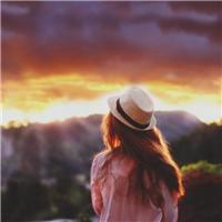 夕阳美女背景图片 夕阳木桥美女