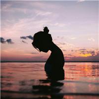 一个人的夕阳背影图片 夕阳图片 一个人背影