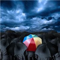 雨伞意境唯美图片