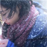 冬天女人背影伤感图片