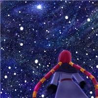 晚上抬头望天空图片