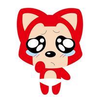 阿狸痛哭的图片