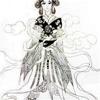 古风嫁衣手绘图片