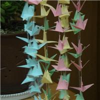 好看的千纸鹤风铃图片