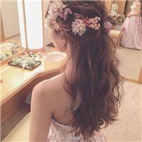 新娘发型图片2016款 韩式婚纱照新娘发型