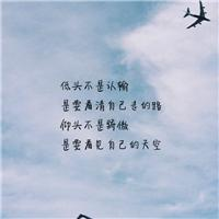 低头不是认输,是要看清自己走的路,仰头不是骄傲,是看清自己的天空