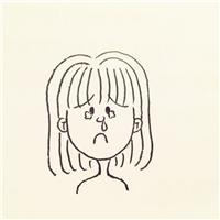 生病难受的图片卡通图