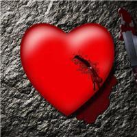 男人心碎图片滴血