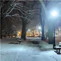 一个人走夜路的图片冬天