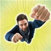 欧美男生握拳励志图片