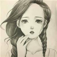 流眼泪的女生图片头像手绘女生难过图片