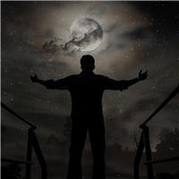 一组星空下孤独的背影图片唯美