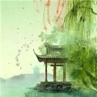 古风 花粉柳绿 雨景