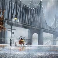雨中美景摄影图片桌面壁纸