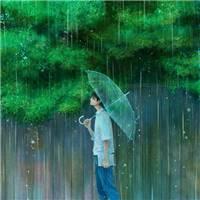 唯美漫画雨天