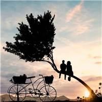 你之所以心酸,是因为那个知道你心酸的人,从不问你为什么难过#情侣#唯美#夕阳#背影#剪影