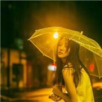 伤心美女组图#女生#街拍#雨伞