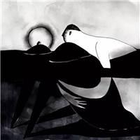 和你的世界说再见#黑白#抽象#手绘