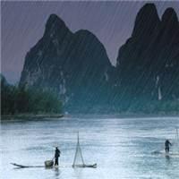动漫下雨风景图片#动态图