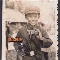 真情流露,望远镜,手枪,小男孩的英雄梦#古风#小孩#黑白