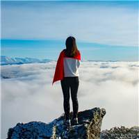 马场梁(华尖山)我的心灵放空之地#女生#背影#高山