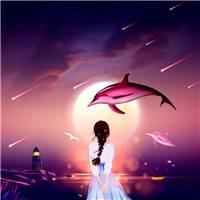 晚安心灵物语唯美星空创意海报#女生#二次元#卡通