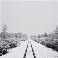 雪景壁纸 唯美 净化心灵#铁轨