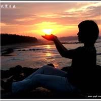 呵- 双手托起了明天的希望#自拍#夕阳